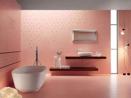 Decorare il bagno di rosa