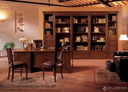 Scrivania Ufficio Legno Massello : Americano antico legno massello sala studio scrivania set in