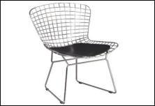 Sedie in metallo for Sedie nere moderne