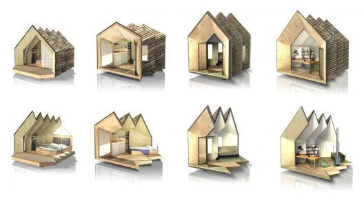 Case modulari hermit houses come arredare for Case modulari costi